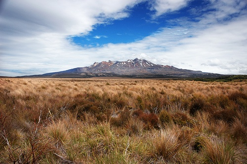 Mount Ruapehu - a volcano in New Zealand