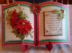 Family Christmas cards made using the Bookatrix embossing boards pinflare sentiments holly stamps and decoupage