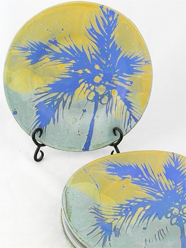 Tropical  Dinner Plates by HonestWorks on Etsy, $35.00
