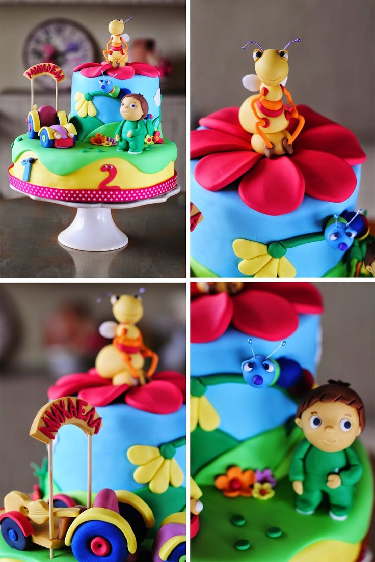 Baby TV cake - Big bugs band - Charlie and the numbers