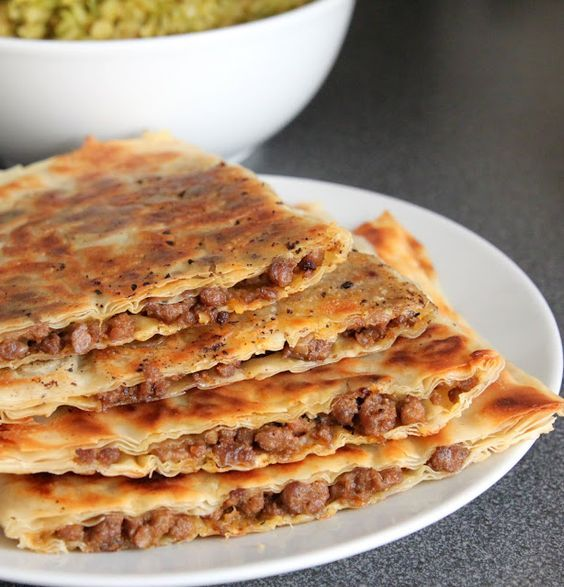 Filo pastry stuffed with minced meat. #recipes