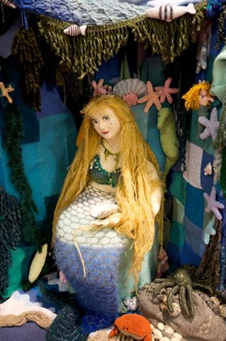 A winsome knitted mermaid