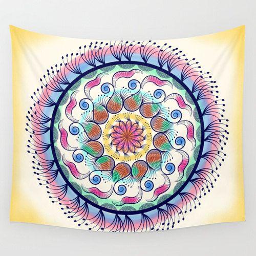 Mandala tapestry Psychedelic tapestry hippie bohemian by Famenxt