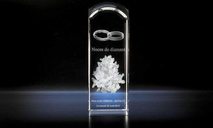 """Bloc de verre """"Tête ronde"""" - Atelier du verre créations"""