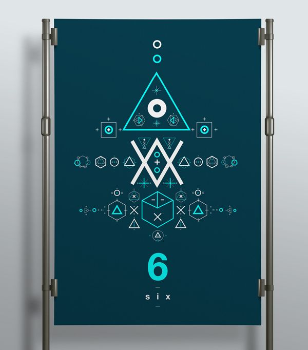 SIX // Symbols & Shapes by Jonathan Quintin, via Behance