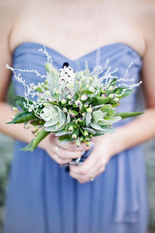 white protea bouquets for BM