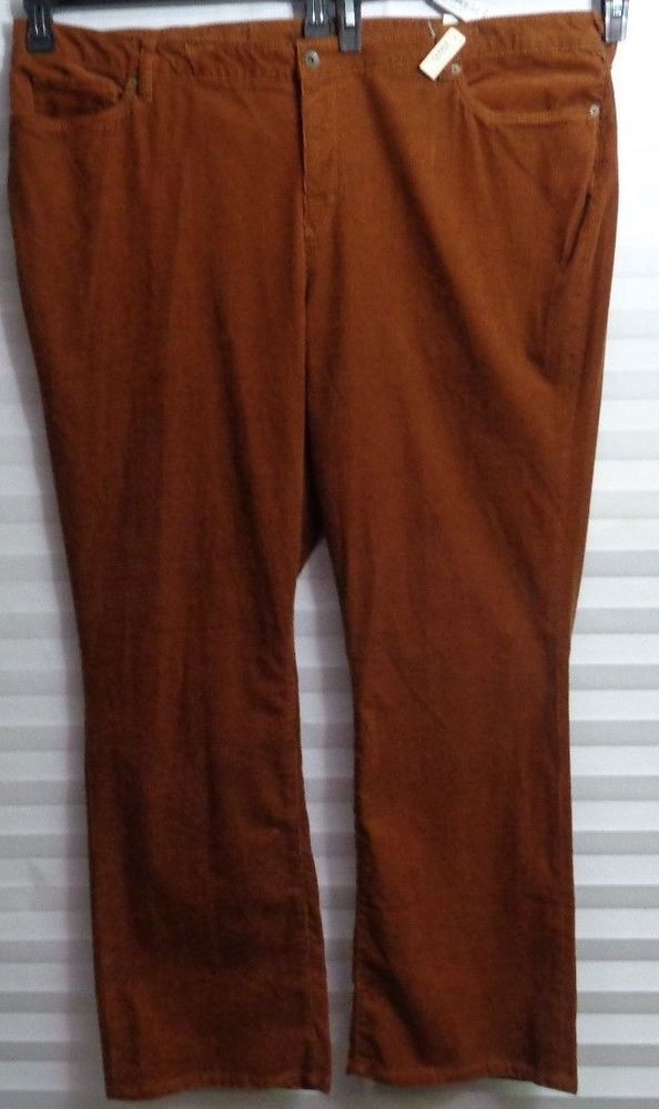 eafc41caa35 Lands  End Rich Nutmeg Corduroy Pants Women s Plus Size 24W Fit 2 (u)   LandsEnd  Corduroys
