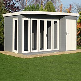 12X8 Aster Shiplap Timber Summerhouse & Storage Shed with Assembly Service   Departments   DIY at B&Q