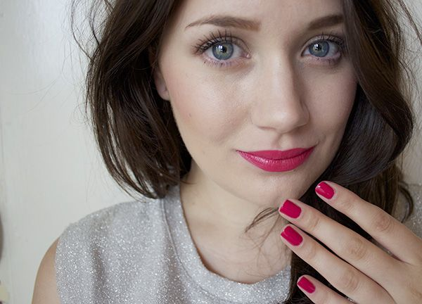 Berry Lips and Nails
