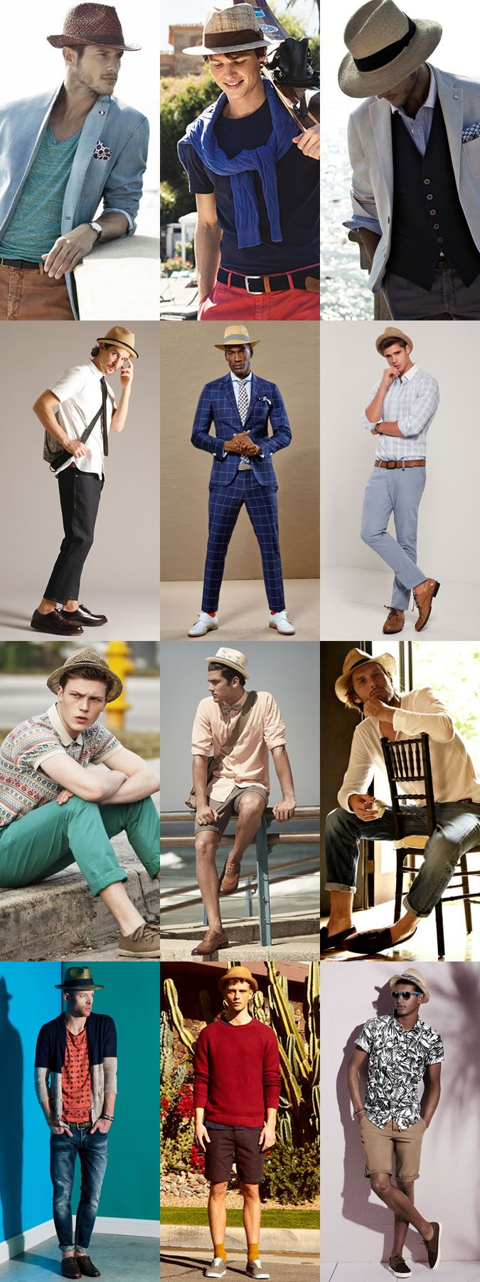 2014 Men's Summer Hats: The Straw Fedora Lookbook Inspiration