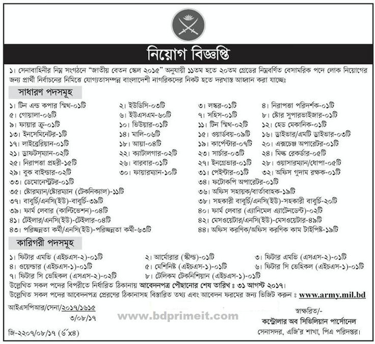 11 best Job Circular images on Pinterest Job circular, Bank jobs - army form