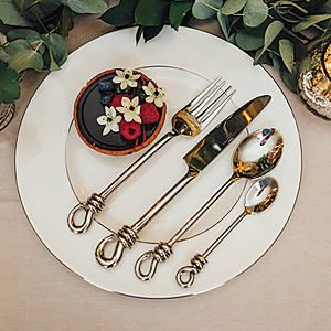 Culinary Concepts Polished Knot 4 Piece Place Setting #kaleidoscope #home