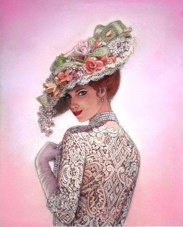 victorian lady art peinture amour sue halstenberg peintures à vendre