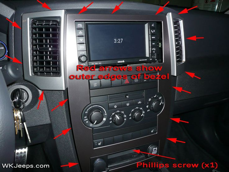 Jeep Grand Cherokee WK - Interior trim removal