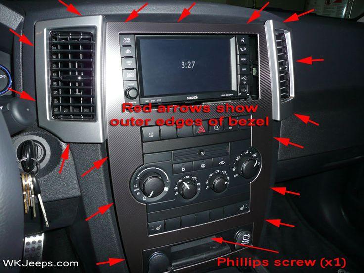 Jeep Grand Cherokee WK - Interior trim removal