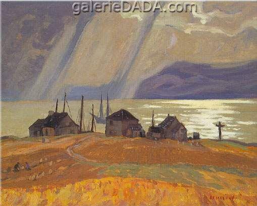 Alexander Y. Jackson,  Ile aux Coudres Fine Art Reproduction Oil Painting