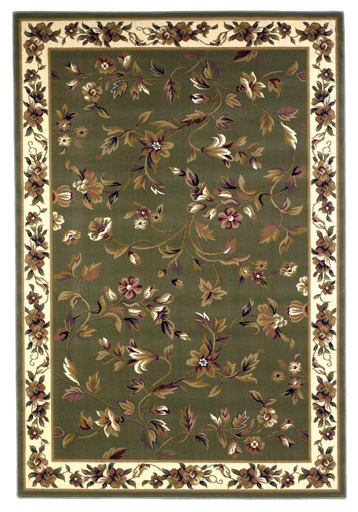 Cambridge 7332 Floral Vine Sage Ivory Rug