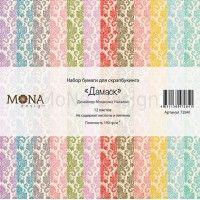"""Набор бумаги """"Дамаск базовая коллекция"""" 30,5*30,5 см Mona Design"""