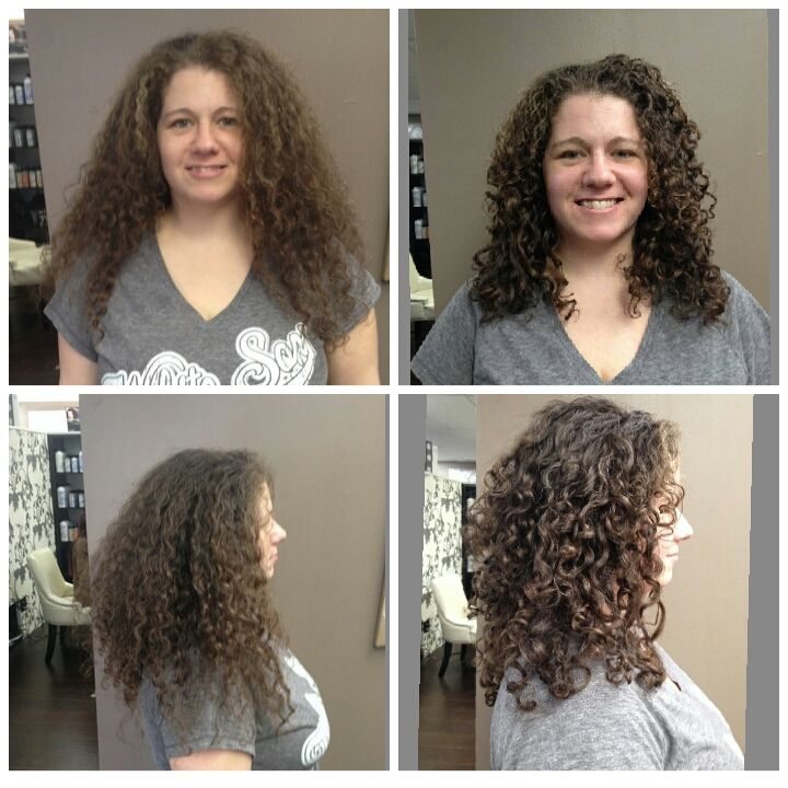ouidad haircut before and after before and after done by jackie the client received a 3698