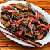 Kalyn's Kitchen: Recipe for Sriracha-Spiced Stir-Fried Tofu with Eggplant, Red Bell Pepper, and Thai Basil