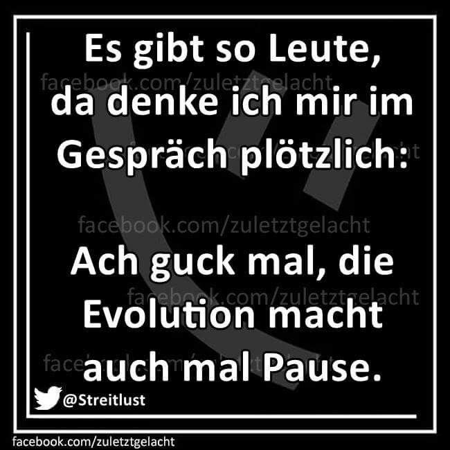 die Evolution macht Pause...