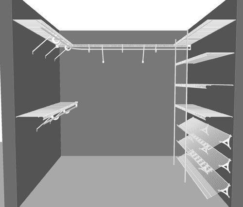 Closetmaid Walk In Closet Designs | ... Walk In Wardrobe Packages, Clothes  Storage