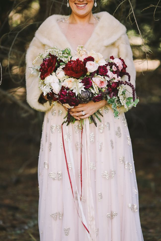 Love the bridal fur jacket.  Very glamorous.  May wear something like it.   An Enchanting Montrose Berry Farm Wedding from Lara Hotz Photography – Part II