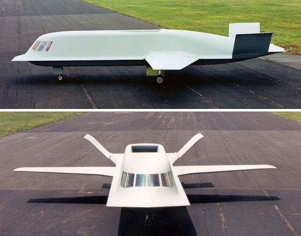 northrop tact blue technology demonstrator photo - Top Secret Tombs: The Classified Stealth Aircraft Burial Grounds of Area 51