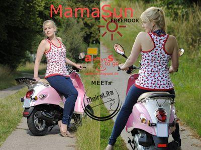 Toller einfacher Schnitt! 2 hab i jetzt schon. Nr. 3 folgt. aefflynS - to go: FREEBOOK 'MamaSun' ☼ das Damentanktop mit Racerback