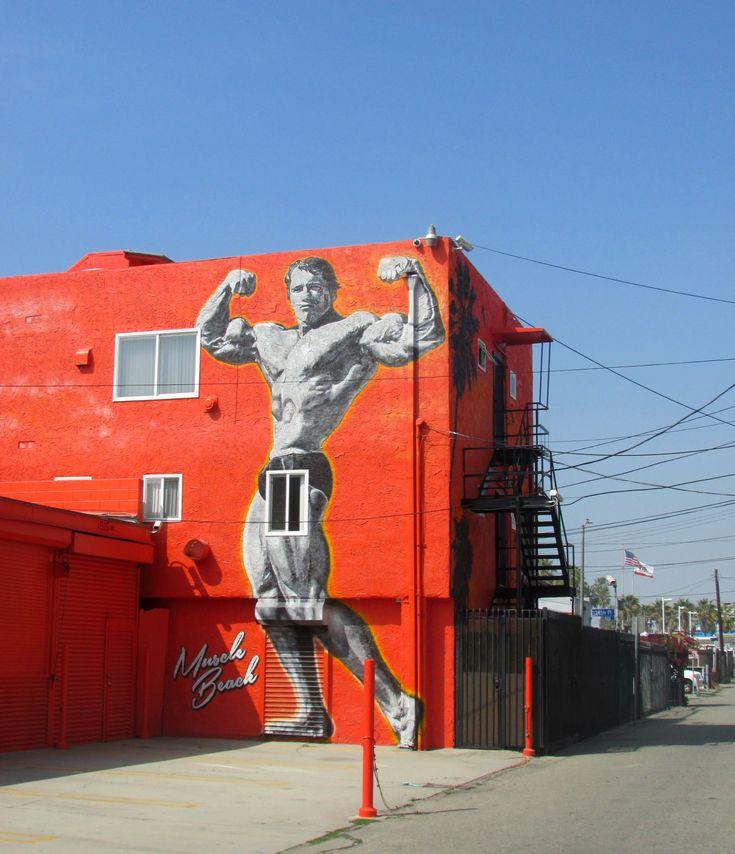 Arnold Schwarzenegger Muscle Beach Mural | BCBL