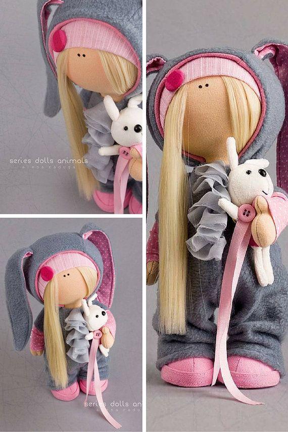 Rabbit doll Tilda doll Interior doll Textile by AnnKirillartPlace