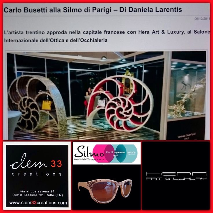 SILMO PARIS 2015  #clem33creations #clem33 #carlobusettiartista  #heraartandluxury #apple #digitalart #arte  #contemporaryart  #instahome #casa #world #billionaire #instagood