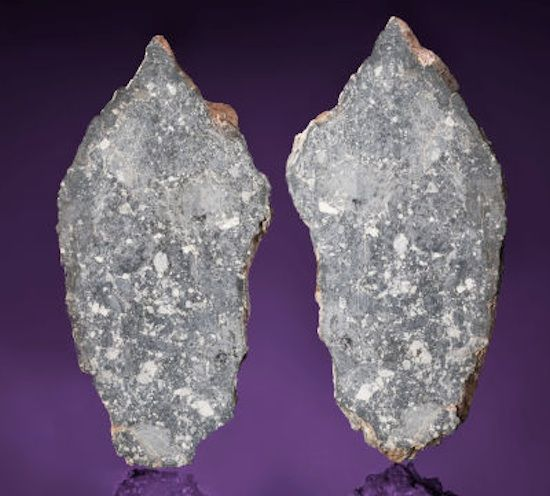 An honest-to-goodness piece of the real life Moon hits the auction block at Heritage Auctions this week, and it's one of the first in some time to be opened to a private auction. Bidding on the moon meteorite, Dar Al Gani 1058,which fell to Earth and was discovered in Libya, starts at $170,000, but the final price is expected to be as high as $380,000. The rock is a nearly four pound chunk of breccia from the far side of the moon split in two pieces.