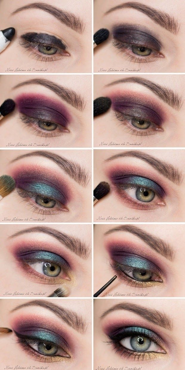 Exotic eye makeup for the brave... but, I would wear this on normal day :D #Eye_Makeup #eyemakeup