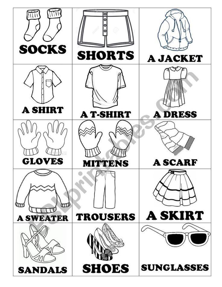 Clothes Vocabulary ESL worksheet by Cavallerodg in
