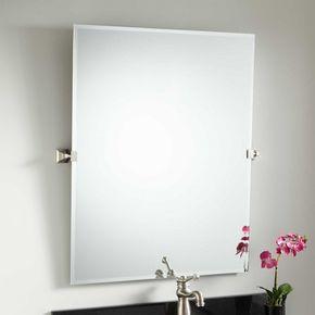 35 Karolynne Rectangular Tilting Mirror Bathroom Mirrors Mirror