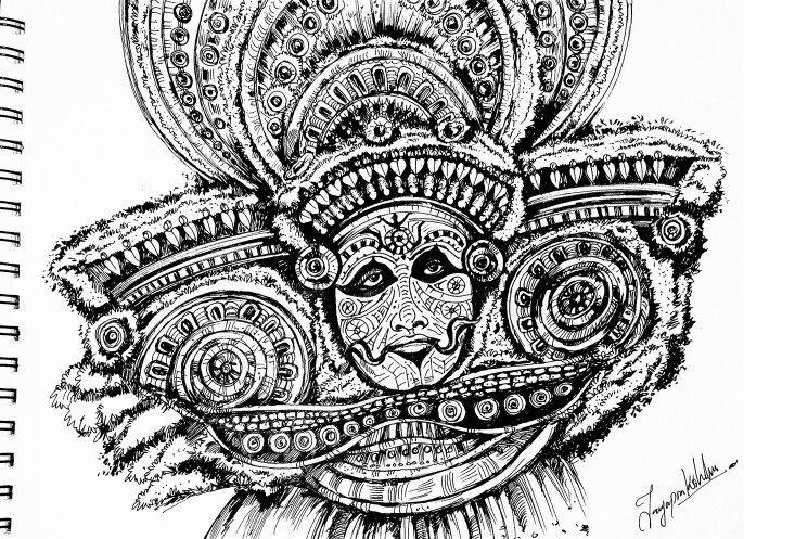 Theyyam pen work