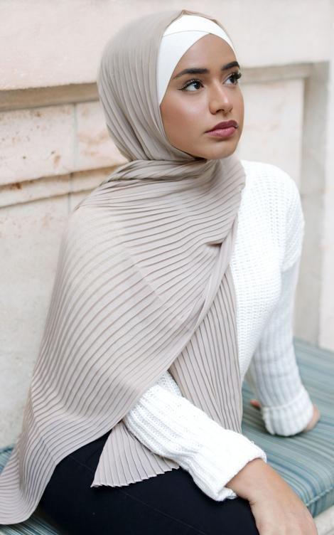 AEGEAN Pleated Chiffon – #AEGEAN #Chiffon #hijab #pleated