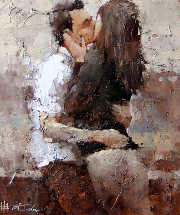Andre Kohn-The Kiss-13 x11-2000.jpg (605×720)