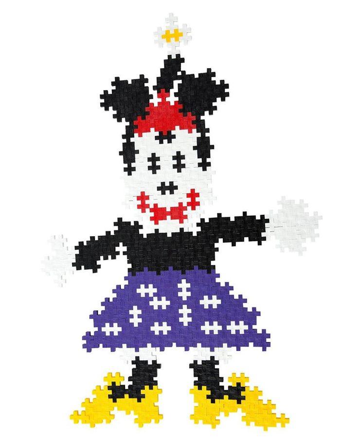 Minnie Mouse lavet af Plus-Plus brikker. Se udvalget af brikker på Legebyen.dk og slip din egen fantasi fri... #plusplus - #plusplusmini  https://www.facebook.com/plusplus.dk/photos/a.151634991637790.31796.137578886376734/602247179909900/?type=1