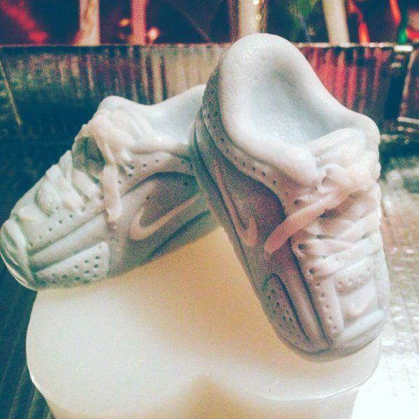 Baby Nike shoes - soap! Party favours found at lather splendid