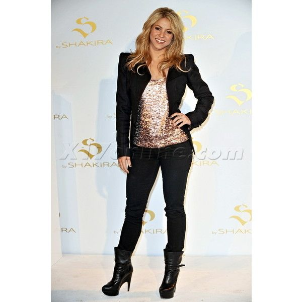Shakira Photos & Pics | Shakira Strikes A Pose In Madrid ❤ liked on Polyvore featuring shakira