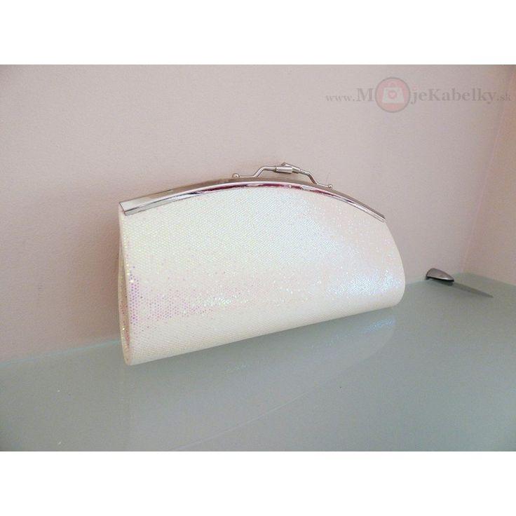 Spoločenská značková kabelka Siva collection biela -10953WHI