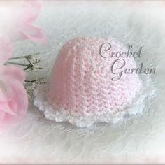 Precious Preemie Cap free crochet pattern - 46sc