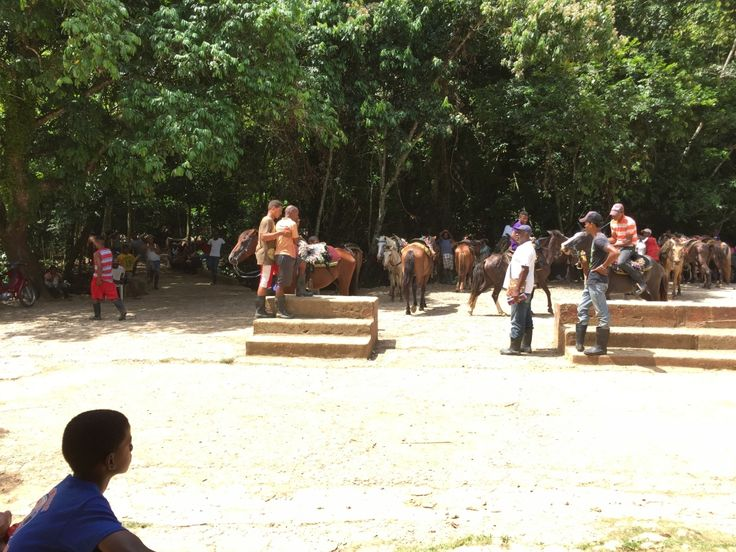 Ready to horse back ride to the waterfalls in Samana, Dominican Republic!