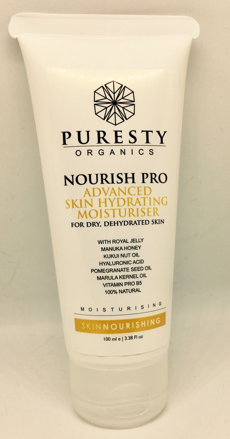 Puresty Organics Nourish Pro Advanced Skin Hydrating Moisturiser for dry, sensitive or mature skin. Fab as an anti-aging moisturiser too. 100% Natural, vegetarian, cruelty-free, halal skincare. Contains Royal jelly, organic Manuka honey, hyaluronic acid, pomegranate seed oil, B5, Marula oil & more.