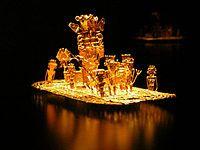 エル・ドラード伝説を生み出したムイスカ人の黄金の筏-コロンビア - Wikipedia