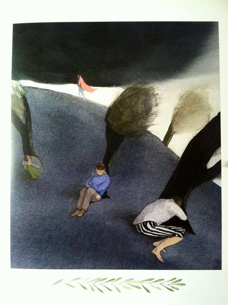 Lisbeth Zwerger, Jesus praying in the Garden of Gethsemane, Bible illustrations