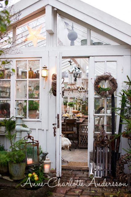A Garden retreat, greenhouse, dream place!