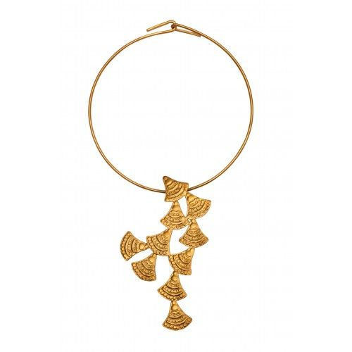 """""""Ariadne"""" Necklace: sterling silver gold plated"""